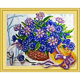 Алмазная картина Color KIT Сапфировый букет, с фигурными стразами