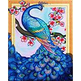 Алмазная картина Color KIT Сказочный павлин, с фигурными стразами