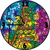 Витражные часы Color KIT Париж