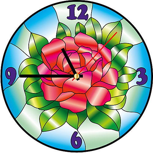 Витражные часы Color KIT Цвет розы от Color KIT