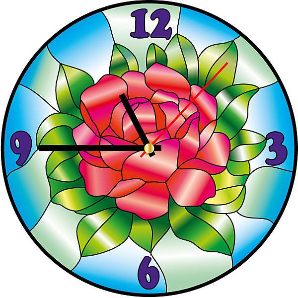 Витражные часы Color KIT Цвет розы