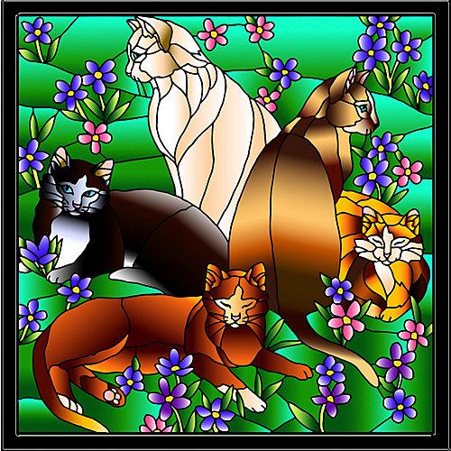 Витраж Color KIT Кошки в незабудках от Color KIT