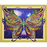 Алмазная картина Color KIT Радужная бабочка, с фигурными стразами