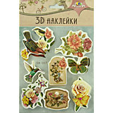 "3D-наклейки Апплика ""Цветы"", 8 шт"