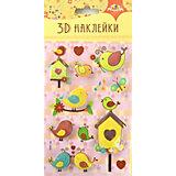 """3D-наклейки Апплика """"Птицы"""", 7 шт"""