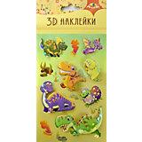 """3D-наклейки Апплика """"Динозавры"""", 7 шт"""
