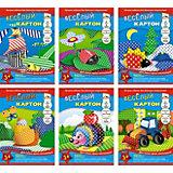 Комплект цветного картона Апплика А4, 6 видов