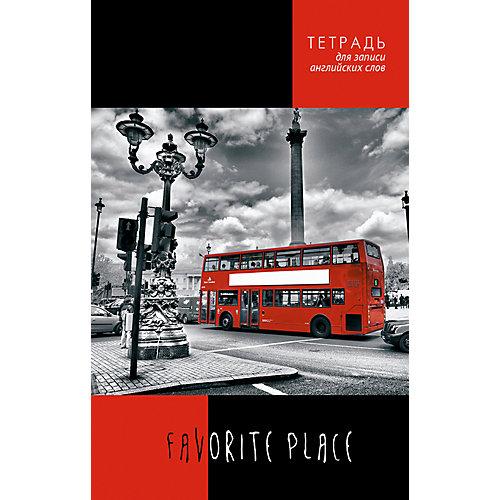 """Тетрадь для записи английских слов Апплика """"Красный автобус"""" А5, 96 листов от АппликА"""