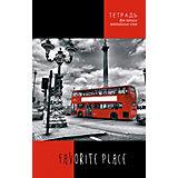 """Тетрадь для записи английских слов Апплика """"Красный автобус"""" А5, 96 листов"""