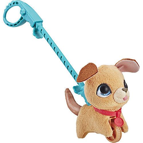 "Мягкая игрушка FurReal Friends ""Маленький питомец на поводке"" Бежевая собака от Hasbro"