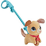 "Мягкая игрушка FurReal Friends ""Маленький питомец на поводке"" Бежевая собака"
