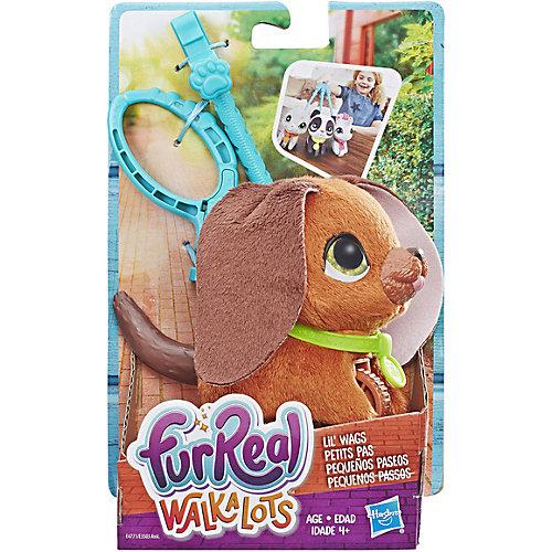 """Мягкая игрушка FurReal Friends """"Маленький питомец на поводке"""" Коричневая собака от Hasbro"""