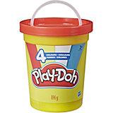 """Набор пластилина Play-Doh """"Большая банка"""" Классические цвета, 4 шт"""