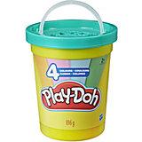 """Набор пластилина Play-Doh """"Большая банка"""" Современные цвета, 4 шт"""