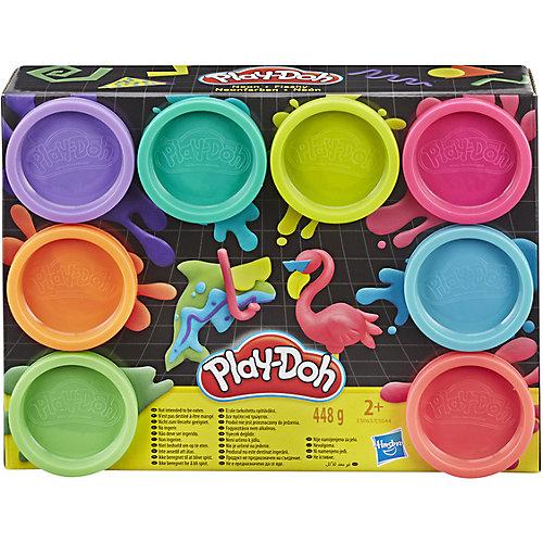 """Набор пластилина Play-Doh """"Неон"""", 8 цветов от Hasbro"""