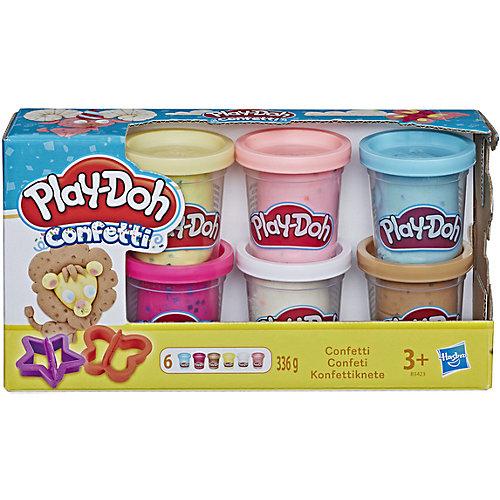 """Набор пластилина Play-Doh """"Конфетти"""", 6 банок от Hasbro"""