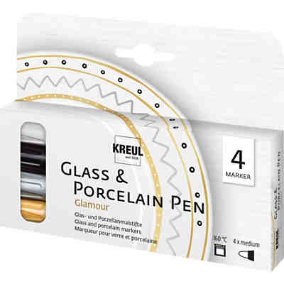 Glass & Porcelain Pen Glamour, 4 Stifte