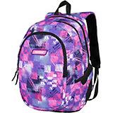 Рюкзак 3 zip Target Collection Yo, лиловый