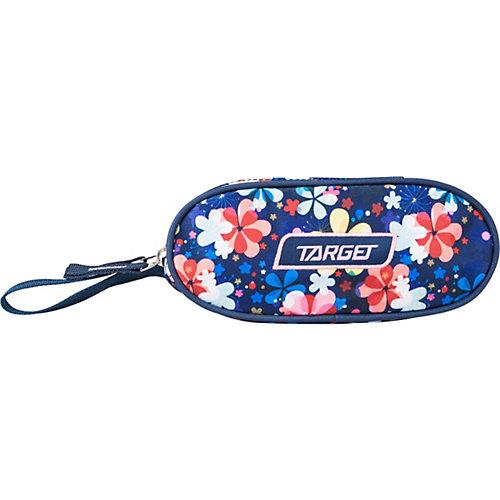 Пенал Target Collection FLOWER SKY, овальный - синий от Target Collection