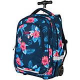 Рюкзак-тележка Target Collection Floral,  синий