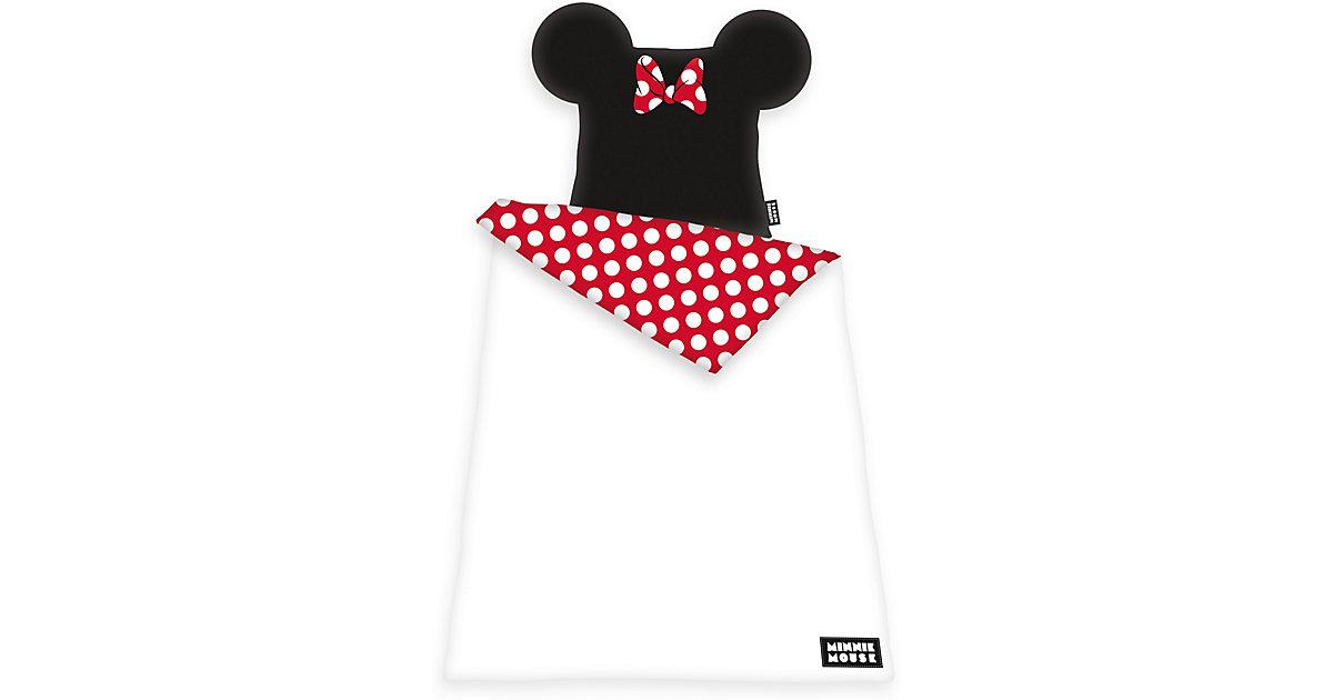 Herding · Wende-Kinderbettwäsche mit Ohren Disney´s Minnie Mouse, Renforcé, 80 x 80 cm + 135 x 200 cm