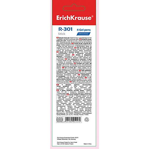 Ручка гелевая Erich Krause R-301 Original Gel 0.5, цвет чернил: синий, черный, красный, зеленый от Erich Krause