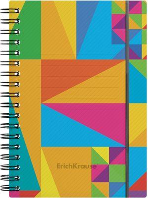 Тетрадь общая ErichKrause Arlecchino, А6, 80 листов, клетка, на резинке