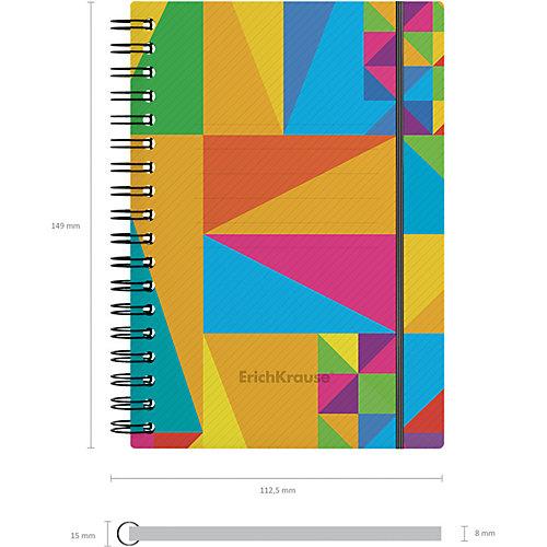 Тетрадь общая Erich Krause Arlecchino, А6, 80 листов, клетка, на резинке от Erich Krause