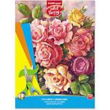 Цветной картон мелованный в папке ArtBerry «Розы», А4, 10 листов,10 цветов