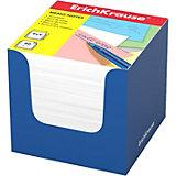 Бумага для заметок Erich Krause, 90x90x90 мм, белый, в синей картонной подставке