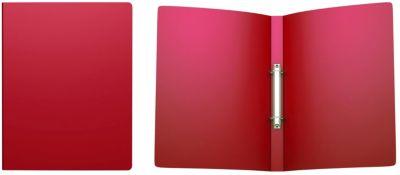 Папка на 2 кольцах пластиковая  ErichKrause Classic, 24 мм, A4, красный