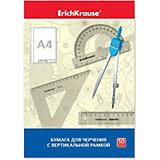 Бумага для черчения Erich Krause, А4, 10 листов, вертикальная рамка