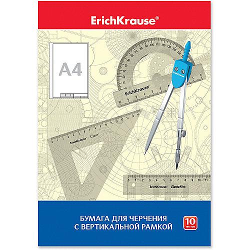Бумага для черчения Erich Krause, А4, 10 листов, вертикальная рамка от Erich Krause