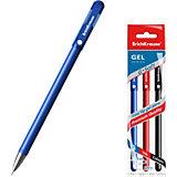 Ручка гелевая Erich Krause G-Soft, цвет чернил: синий, черный, красный