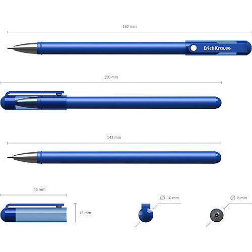 Ручка гелевая Erich Krause G-Soft, цвет чернил: синий, черный, красный от Erich Krause