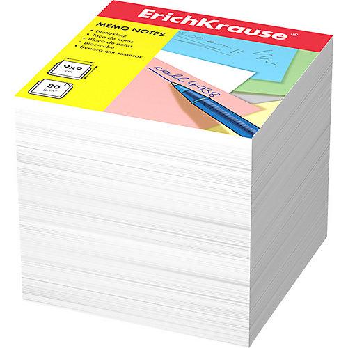 Бумага для заметок Erich Krause, 90x90x90 мм, белый от Erich Krause