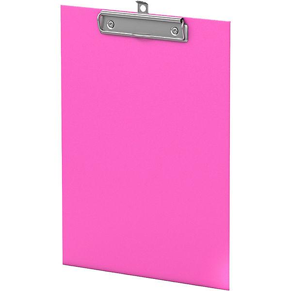 Планшет с зажимом ErichKrause, Neon, А4, розовый