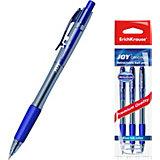 Ручка шариковая автоматическая Erich Krause JOY Original, Ultra Glide Technology, синий