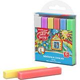 Мелки для асфальта ArtBerry, 6 цветов