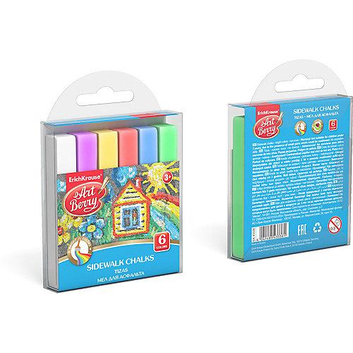 Мелки для асфальта ArtBerry, 6 цветов от Erich Krause