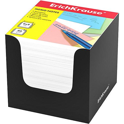Бумага для заметок Erich Krause, 90x90x90 мм, белый, в черной картонной подставке от Erich Krause