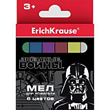 Мел для асфальта ErichKrause «Звёздные войны», 6 цветов