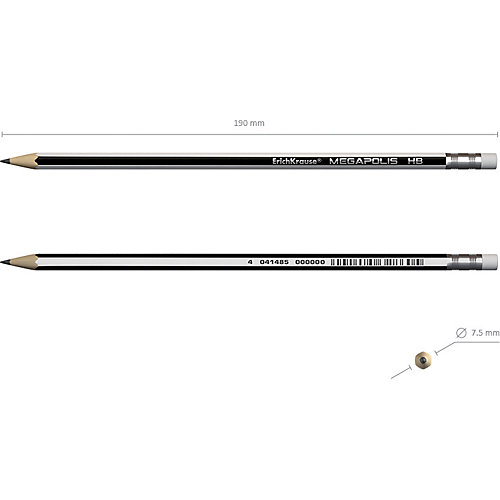 Чернографитный  карандаш Erich Krause MEGAPOLIS HB от Erich Krause