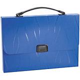 Портфель пластиковый Erich Krause  Evo, A4, синий