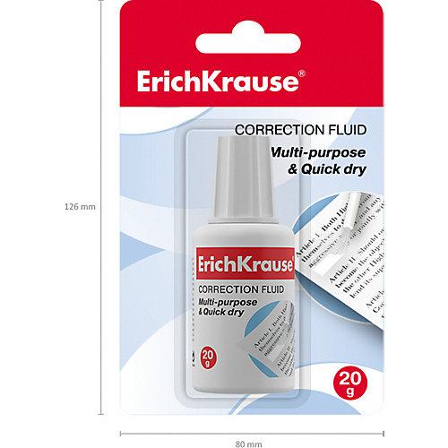 Корректирующая жидкость с кисточкой Erich Krause Extra, 20 г от Erich Krause