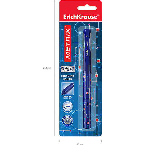Ручка-роллер Erich Krause Metrix, синий от Erich Krause