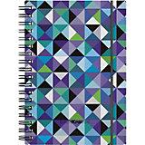 Тетрадь общая Erich Krause Cubes, А6, 80 листов, клетка, на резинке