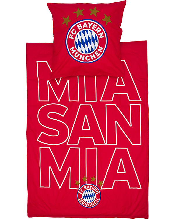 Bettwäsche Glow Mia San Mia Fußballverein Fc Bayern München Mytoys