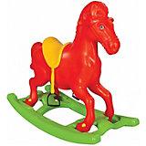 """Качалка Pilsan Windy Horse """"Лошадка"""", со стременами, оранжевая"""