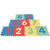 Игровой коврик 9-ти секционный с цифрами, 33х33х0,7 см